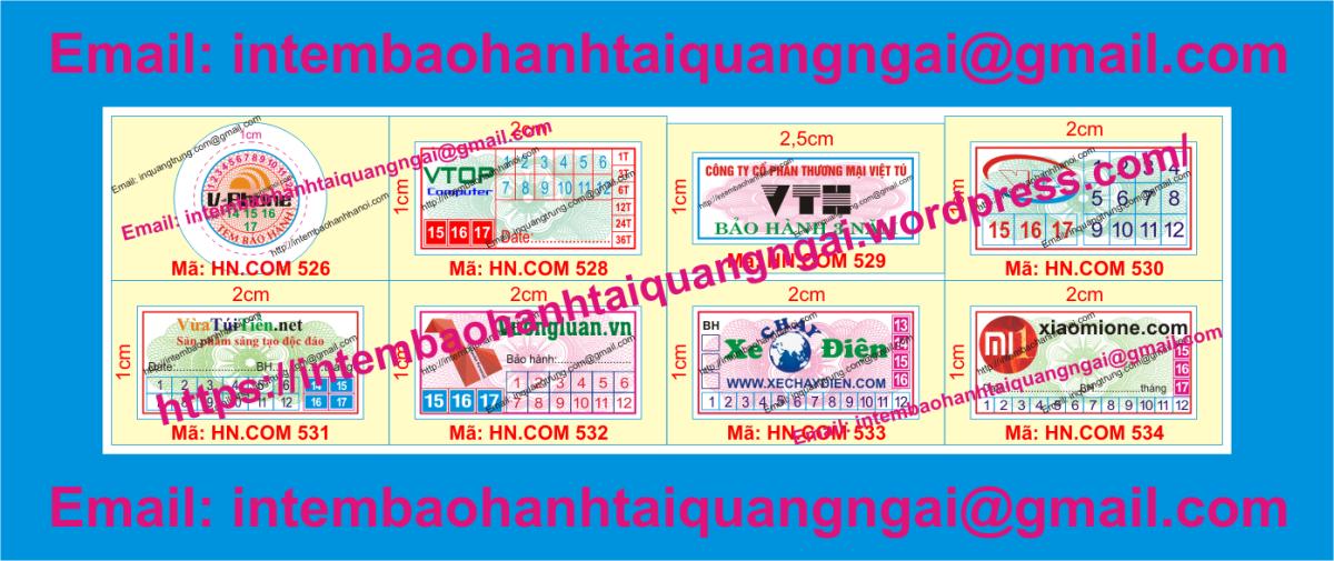 In tem vỡ bảo hành tại QuảngNgãi