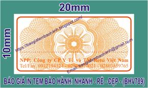 In tem bảo hành giảm giá sâu 26% chỉ còn 110đ ở Xã Thiện Mỹ, Huyện Trà Ôn, Tỉnh VĩnhLong