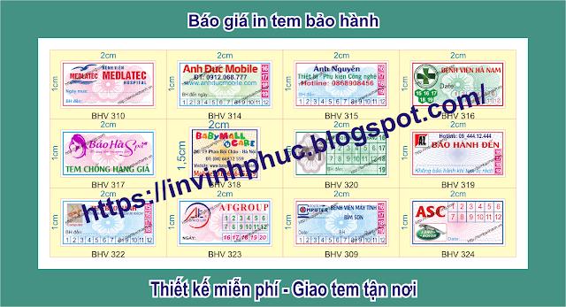In tem bảo hành giảm giá sâu 57% chỉ còn 190đ ở tại Phường 08, Quận 6, Thành phố Hồ ChíMinh