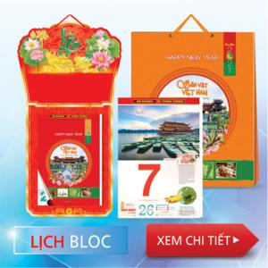 Thiết kế mẫu lịch & In lịch tếtđẹp